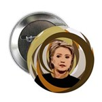 Hillary Clinton Swirling Branches Button