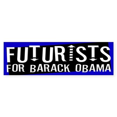 Futurists for Barack Obama sticker