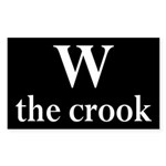 W the crook (bumper sticker)