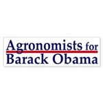 Agronomists for Obama bumper sticker
