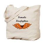 Flames and tattoos on female firefighter tote bags, travel mugs, apparel and watches from Bonfire Designs.