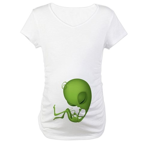 Alien fetus  Baby Maternity T-Shirt by CafePress