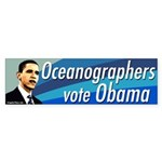 Oceanographers Vote Obama Bumper Sticker