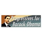 Progressives for Barack Obama bumpersticker