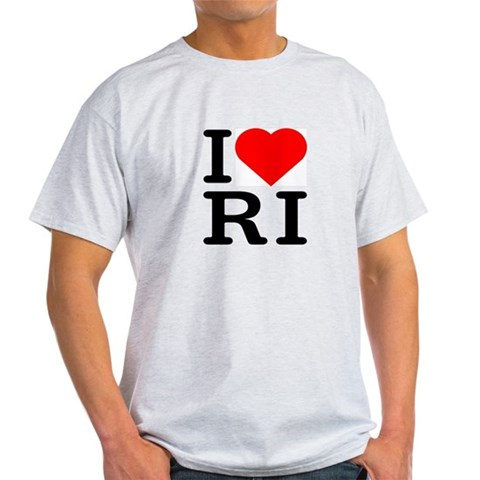 I Love Rhode Island - Ash Grey T-Shirt Love Light T-Shirt by CafePress