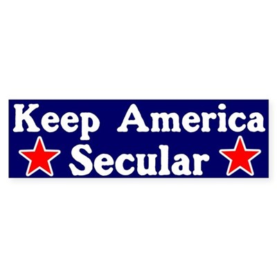 Secular America Bumper Sticker