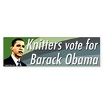Knitters vote for Barack Obama bumper sticker