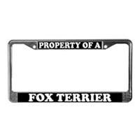 Fox Terrier License Plate Frames