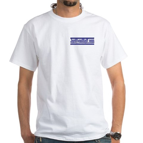 White T-shirt White White T-Shirt by CafePress