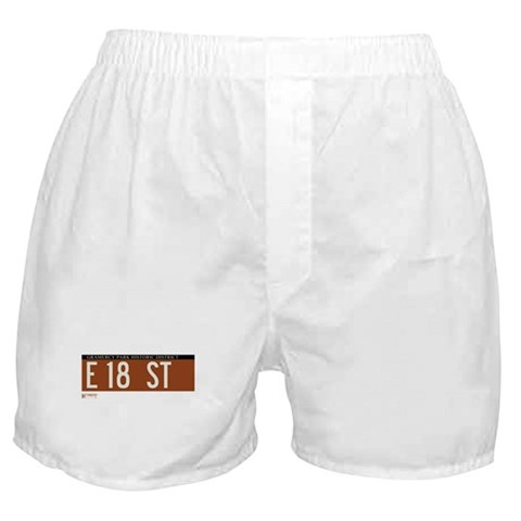 18th Street in NY  New york Boxer Shorts by CafePress