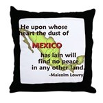 Dust of Mexico... Throw Pillow