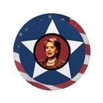 "Extra Large Patriotic Hillary Clinton 3.5"" Button"