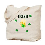 Irish Beer Shamrocks Tote Bag