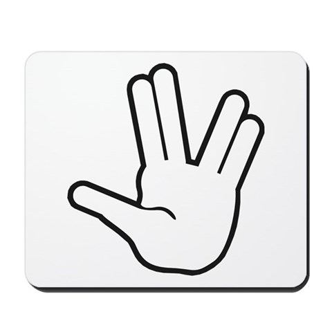 Live Long Prosper - 1 Star trek Mousepad