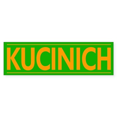 Kucinich -- Orange and Green sticker