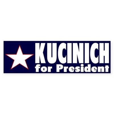 Kucinich for President (bumper sticker)