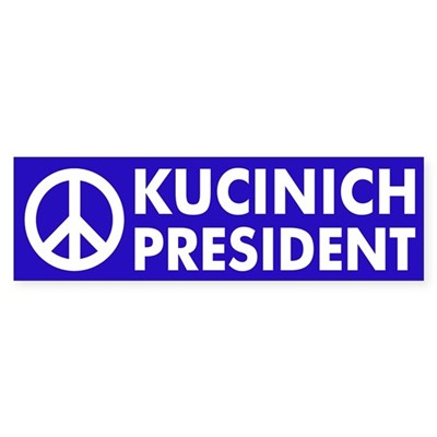 Peace: Kucinich for President sticker