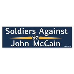 Soldiers Against John McCain bumper sticker