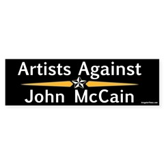 Artists Against John McCain bumper sticker