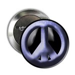 Metal Blue Peace Sign Button (100 pack)