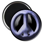 Metallic Blue Peace Sign (10 magnets)