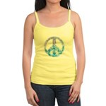 Watercolor Peace Sign Jr. Spaghetti Tank