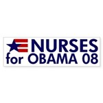 Nurses for Obama 08 Bumper Sticker