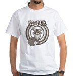 Retro No Fur White T-Shirt