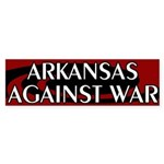 Arkansas Against War Bumper Sticker