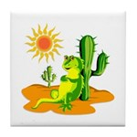 Iguana in the Desert Tile Coaster
