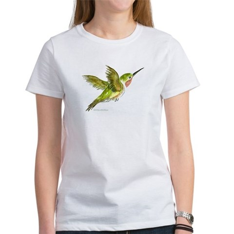 Hummingbird  Art Women's T-Shirt by CafePress