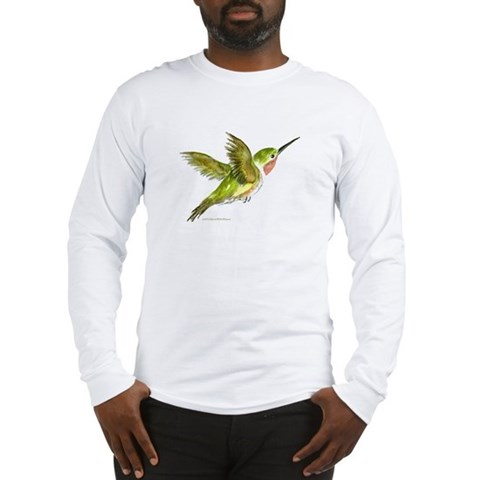Hummingbird  Art Long Sleeve T-Shirt by CafePress
