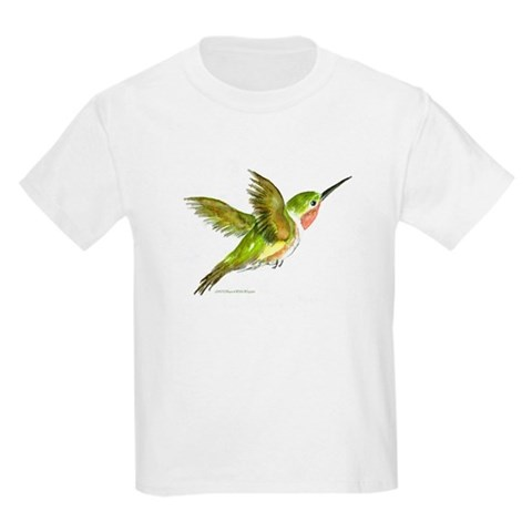 Hummingbird  Art Kids Light T-Shirt by CafePress