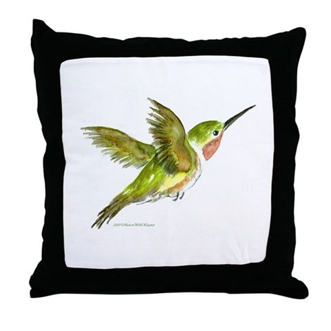 Hummingbird  Art Throw Pillow by CafePress