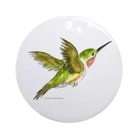 Hummingbird Ornament Round Art Round Ornament by CafePress