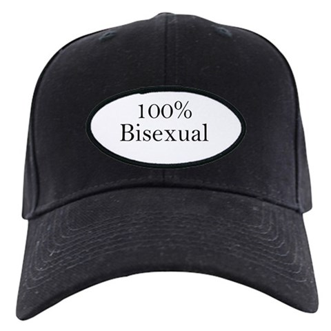100 Bisexual  Gay pride Black Cap by CafePress