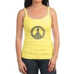 Blue Watercolor Peace Sign Jr. Spaghetti Tank