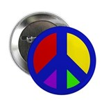 Multicolored Peace Sign (10 buttons)