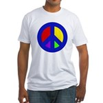 Multicolored Peace Fitted T-Shirt