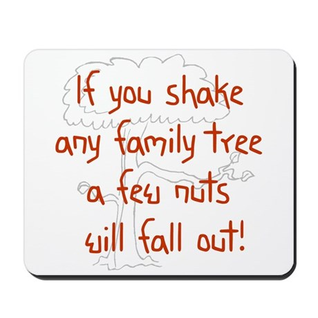 Shaking Family Tree (Red) Mousepad
