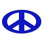 Blue Peace Sign (bumper sticker)