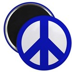 10 Blue Peace Sign Magnets