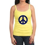 Blue Peace Sign Jr. Spaghetti Tank