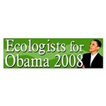 Ecologists for Obama 2008 bumper sticker