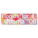 Florists for Obama '08 bumper sticker