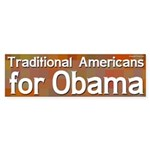 Traditional Americans for Obama sticker