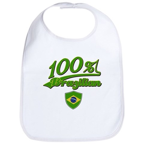 100 Brazilian  Brazil Bib by CafePress