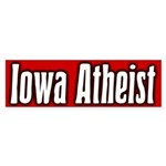 Iowa Atheist Bumper Sticker
