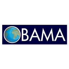 Earth Obama: Obama for the Earth Bumper Sticker