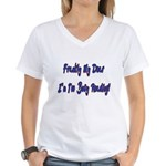 Frankly My Dear I'm Too Busy Reading V-Neck Tee